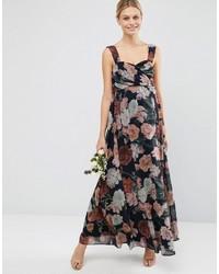 c80347eab070 Asos Maternity Wedding Floral Chiffon Bandeau Maxi Dress, $45 | Asos ...