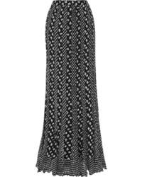 Diane von Furstenberg Addyson Printed Paneled Silk Chiffon Maxi Skirt