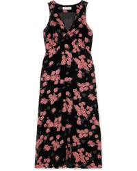 MICHAEL Michael Kors Floral Print Devor Chiffon Midi Dress