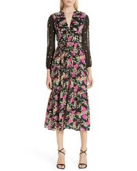 Saloni Ginny Silk Midi Dress