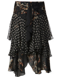 Floral chiffon layer skirt medium 75040
