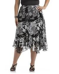 Plus swirl skirt floral medium 75046