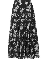 MICHAEL Michael Kors Tiered Floral Print Chiffon Skirt