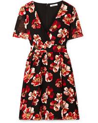 Madewell Floral Print Chiffon Mini Dress