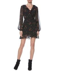 Paige Shawna Ruffle Detail Wrap Minidress