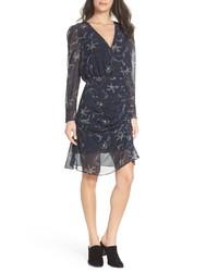 Sam Edelman Floral Chiffon Faux Wrap Dress