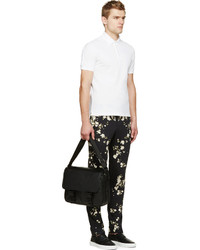 Givenchy Black Floral Slim Trousers