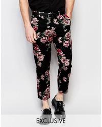Reclaimed Vintage Skinny Pants In Floral Print