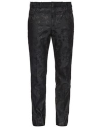Alexander McQueen Tailored Floral Jacquard Trousers