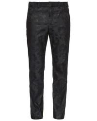 Tailored floral jacquard trousers medium 320546