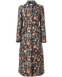 Black Floral Coat