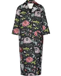 Adam lippes opera floral jacquard coat black medium 3644536