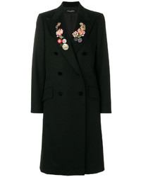 Dolce & Gabbana Double Breasted Floral Embroidered Coat