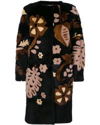 Alberta Ferretti Floral Design Fur Coat