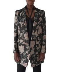 Sosken Floral Jacquard Coat