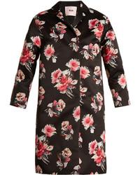 MSGM Floral Print Satin Coat