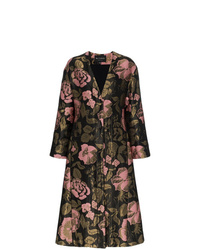 Etro Long Floral Jacquard Coat