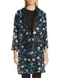 Mansur Gavriel Sequin Sheer Silk Jacket