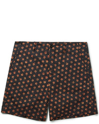 Gucci Clove Floral Print Cotton Shorts