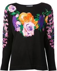 Blumarine floral sweater medium 136293
