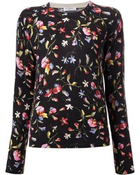 Equipment floral print sweater medium 136292