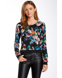 London exotic printed bird crew neck sweater medium 136294