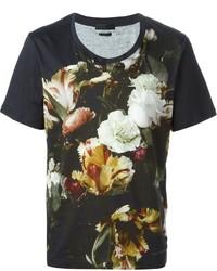Alexander McQueen Floral Print T Shirt