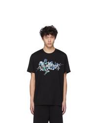 Givenchy Black Logo Flowers T Shirt