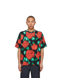 Kenzo Red And Green Print Skate T Shirt