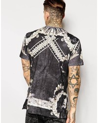 ... Religion T Shirt With Floral Skull Print ...