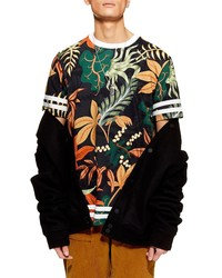 Topman Tape Floral Print T Shirt