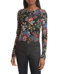 Alice + Olivia Delaina Floral Crop Top