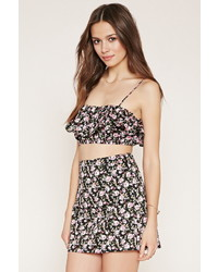 Forever 21 Flounced Floral Cropped Cami