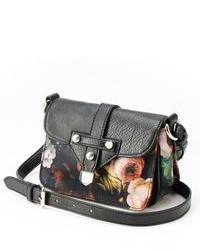 Black Floral Crossbody Bag