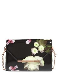 Ted Baker London Kensington Floral Crossbody Bag Black