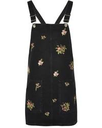 Topshop Moto Floral Pinafore Dress