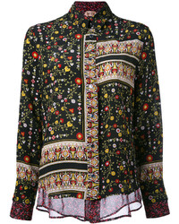 No.21 No21 Patchwork Floral Shirt