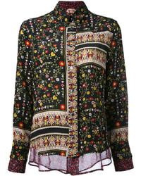 No21 patchwork floral shirt medium 3649086