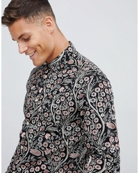 Jack & Jones Premium Smart Shirt In Slim Fit Floral Print