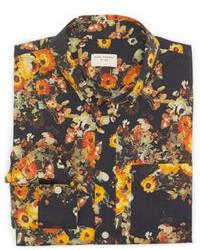 Club Monaco Slim Fit Large Floral Shirt