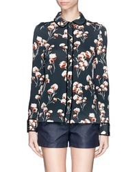 Nobrand Winsor Floral Crepe Jersey Blouse