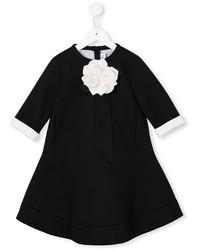 Simonetta Floral Appliqu Dress