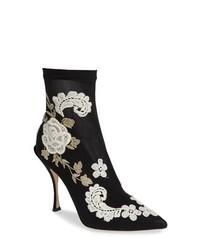 Dolce & Gabbana Floral Sock Bootie