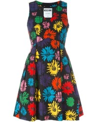 Moschino Floral Fit And Flare Dress