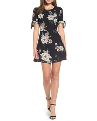 Leith Tie Sleeve Fit Flare Dress