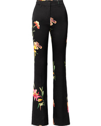 Etro Floral Print Cady Flared Pants