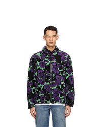 MSGM Black Fleece Acid Flower Jacket