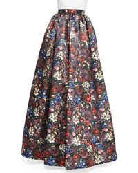 Alice + Olivia Tina Floral Print Ball Skirt