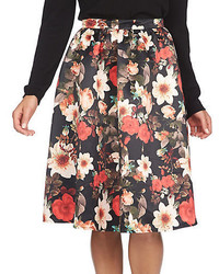 Cece By Cynthia Steffe Majestic Floral Print Full Skirt