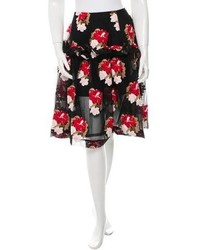 Floral embroidered skirt w tags medium 4267785